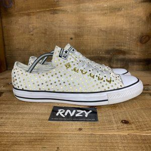 Converse All Star OX Gold Polka Dot Canvas Sneaker